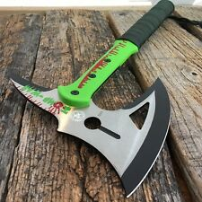 "17"" ZOMBIE SURVIVAL CAMPING TOMAHAWK THROWING AXE BATTLE Hatchet hunting knife-S"