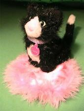 American Girl Licorice Cat with Pink Satin Pillow