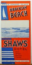 1940's Prince Edward Island Canada Brackley Beach Shaws Hotel brochure & map b