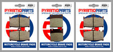 Kawasaki ZZR 1200 2002 Front & Rear Brake Pads Full Set (3 Pairs)