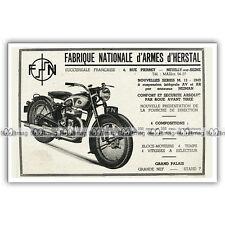 PUB FABRIQUE NATIONALE FN 250, 350 & 450 SERIE M13 - Ad / Publicité Moto de 1949