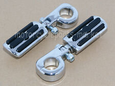"Chrome Foot Pegs Mount For Harley 1.25"" 1-1/4"" Engine Guard Crash Highway Bar"