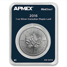 2016 Canada 1 oz Silver Maple Leaf (MintDirect® Single) - SKU #92518