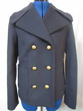 NEW NWT MARC JACOBS NAVY VIRGIN WOOL BLEND PEA-COAT SZ 6  RUNS SMALL MSRP $598