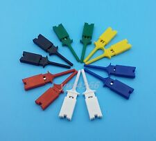 12Pcs Mini Grabber 6 Color Test Probe Hook For SMD IC Test Cilps