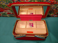 Vintage Samsonite Pink Cherry Blossom Royal Traveler Cosmetic Case Train luggage