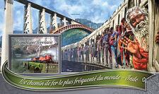 Togo 2016 neuf sans charnière achalandé trains dans le monde de l'inde 1v s/s chemins de fer timbres