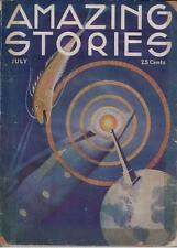 Amazing Stories- July, 1933- Vintage pulp in good shape