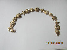 "14k Yellow Gold SEA CREATURES Bracelet   7""  12.6 GRAMS 14K GOLD!!   L@@K"