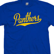 Panthers Script Tail Shirt - High School Sport Football Team - All Size & Colors