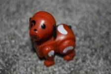 Fisher Price Little People Vintage Brown White Spots Farm Dog Toy Kids EUC