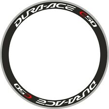 Ace C50 Wheel Rim Decals DURA Stickers Set of 8 Road Bike Racing Cycle For 700C