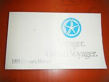 1995 PLYMOUTH GRAND VOYAGER ORIGINAL FACTORY OPERATORS OWNERS MANUAL