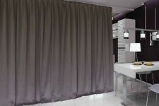 Blockout Curtain 534x230cm PINCH PLEAT 2 panel Blackout High Level Fabric