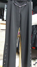 Joseph Ribkoff UK 10 Absolutely Stuning Dress Black Trousers Chain & Buttons Det