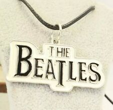 "The Beatles Pendant 20"" Necklace With Leather Cord Chain Classic Rock Music"