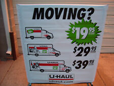 UHAUL Dealer Current 2015 Vinyl 2 Sided Trucks With Rates Banner Sleeve Sign