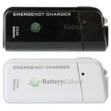 USB Portable 2AA Battery Charger for Samsung Galaxy Note S 1 2 3 4 5 S2 S3 S4 S5