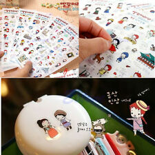6 Sheets Cute Anne's Travel Stickers Diary Decoration Scrapbook Korean Photo