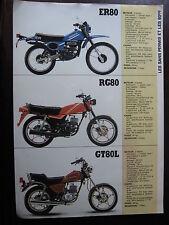 BROCHURE CATALOGUE 1983 MOTO SUZUKI  ER 80 / RG 00 / GT 80L  PROSPECTUS