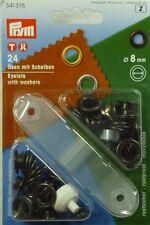 Prym 24 Ösen mit Scheiben und Werkzeug 8mm brüniert 541376