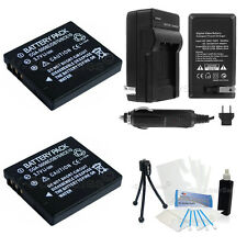 DMW-BCE10 Battery x2 + Charger for Panasonic SDR-S7 S9 S10 S10P1 S15 S20 S25