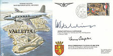 PP31 WWII WW2 Valletta RAF Malta cover signed Hotchkiss & Staples DFM