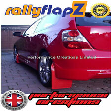 Rally Mudflaps Honda Civic Type R (01-07) Mud Flaps Red Plain 3mm PVC