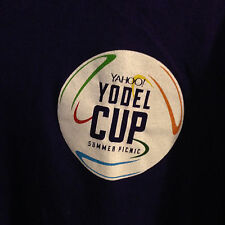 Yahoo Yodel Cup Summer Picnic #14 Jersey Style - Purple T Shirt - XL