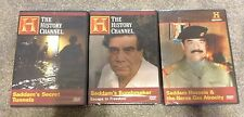 3 Saddam Hussein DVDs - The Nerve Gas Atrocity - Secret Tunnels - Bombmaker