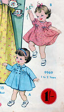 Vintage SEWING PATTERN Baby Toddler Dress Coat Jacket Size 1-2 Home Journal COPY