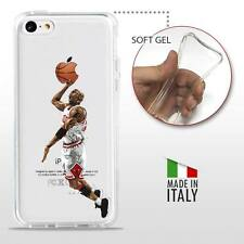 iPhone 5C TPU CASE COVER PROTETTIVA GEL TRASPARENTE NBA Basket Michael Jordan