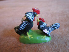 Portugal Roosters Small Figurine Decorative Portuguese Hand Painted Birds