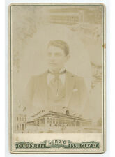 CAB PHOTO OF MAN IN GREAT SUIT FROM DUBUQUE, IOWA, BY LENZ