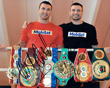 Wladimir & Vitali KLITSCHKO Double Signed Photo B Champion Boxer AFTAL COA