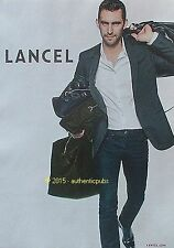 PUBLICITE LANCEL MAROQUINERIE COLLECTION POP SAC VALISE DE 2015 FRENCH AD PUB