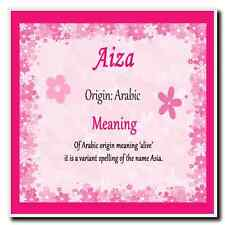 Aiza Personalised Name Meaning Coaster