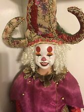 "Mardi Gras Vintage Jester Doll, 35 "" Tall. Comes with Stand"