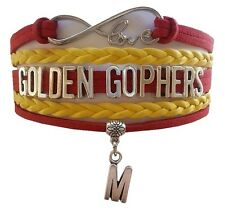University of Minnesota Golden Gophers College Infinity Bracelet Jewelry Apparel