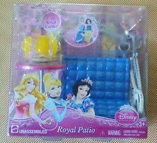 Disney Princess ROYAL PATIO Royal Castle Collectible Furniture - NEW !