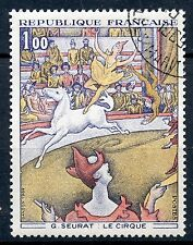 STAMP / TIMBRE FRANCE OBLITERE N° 1588A TABLEAU LE CIRQUE
