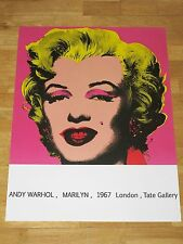 ANDY WARHOL POSTER - MARILYN MONROE 1967 LONDON EXHIBITION PLAKAT