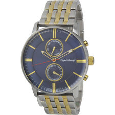 English Laundry Stainless Steel Navy Dial Quartz Mens Watch EL7955S236102