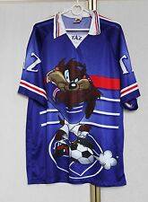 Vintage Looney Tunes Taz Devil Soccer Team jersey shirt XL