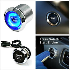 Blue LED Background Light Car Engine Ignition Push Start Button Starter Switch