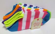 CUTE Girls No-Show Ankle Socks (6 pk) Med (Shoe Size 7.5-3.5) BRAND NEW W TAGS!!