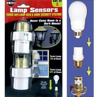 2 Automatic Lamp Sensors Dusk to Dawn Security Light Switch System Socket NEW