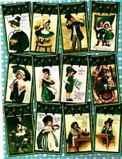 12 ST PATRICKS DAY - VINTAGE LOOK - PAPER CRAFT CARD TAG SCRAPBOOK