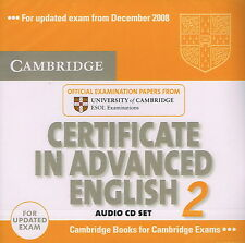 Cambridge CERTIFICATE IN ADVANCED ENGLISH 2 CAE Audio CD Set @NEW & SEALED@