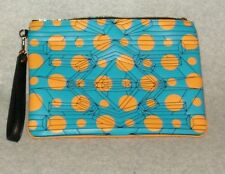 NEW MCM Cosmo Top Zip Blue Clutch  MSRP $380  FREE SHIPPING